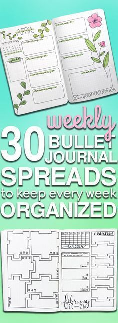 8.5x11, Printable Planner Page, Weekly Calendar Template, Bullet ...