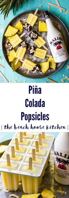 Why should the kids have all the fun? These Piña Colada Popsicles are a special boozy summer treat for all the adults at your next summer soirée! Fruit Drinks, Yummy Drinks, Drinks Alcohol, Alcoholic Beverages, Yummy Food, Frozen Desserts, Frozen Treats, Summer Desserts, Alcoholic Popsicles