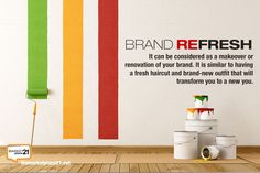 Just put a few tweaks to your brand that will help change the way your company is perceived. What's great about a brand refresh is you can maintain a visual connection to how the brand was seen before. But the new transformation due to makeover will make your brand more up-to-date, vibrant and captivating.