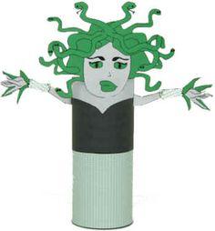 medusa toliet paper roll craft
