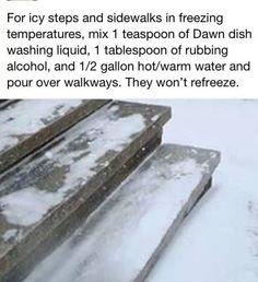 No more icy steps or sidewalks.