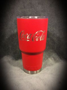 YETI 30 oz. Rambler in Duracoat Electric Cherry and Coca Cola design