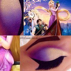 Makeup Looks 2018, Makeup Eye Looks, Eye Makeup Art, Fairy Makeup, Crazy Makeup, Mermaid Makeup, Eyeshadow Makeup, Rapunzel Makeup, Disney Eye Makeup