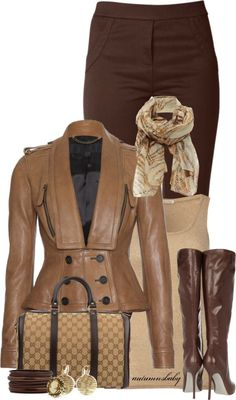 Nice outfit for the fall on Polyvore.