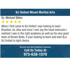 When i first came to NJ United i was looking to learn Brazilian Jiu Jitsu and once i met...