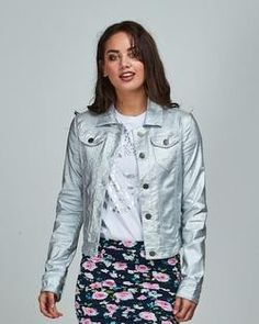 Blazed and Confused Jacket Silver Silver Shop, Clothing Labels, Denim, Pretty, Cotton, How To Wear, Jackets, Fashion, Down Jackets