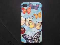 Colorful Butterfly Thailand decoupage case  for iPhone4/4s /Cover case / Hard Case / Accessories / smartphone for Valentines day on Etsy, ฿454.55
