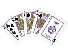 Bicycle Peacock Playing Cards (Purple)