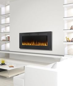 "Napoleon Allure 50"" electric #fireplace makes a great focal point. Also safe below TV's.:"