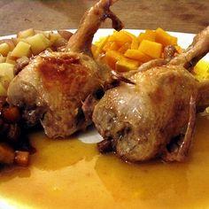 Cailles aux kakis à la sauce aux mandarines Kakis, Sauce, Pork, Turkey, Beef, Dishes, Chicken, Cooking, Journal