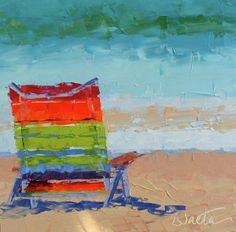 """At The Beach"" -  by Leslie Saeta"