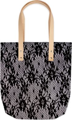 Floral Lace Tote Bag by Elena Indolfi  from #PrintAllOverMe