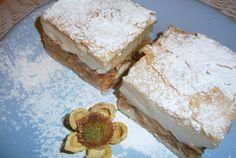Jablkový koláč s pudinkem - FOTOPOSTUP | NejRecept.cz Krispie Treats, Rice Krispies, Vanilla Cake, Feta, Ale, Dairy, Sweets, Cheese, Kuchen