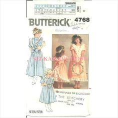 Butterick 4768 Sewing Pattern Children's Girl's Dress Size 5 used on eBid Canada