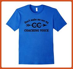 Mens Funny Cross Country Running Coach T-Shirt XL Royal Blue - Sports shirts (*Partner-Link)