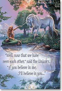 Unicorn & Mermaid meet - art by Jim Warren ( Angelini Angelini Griffin) Unicorn And Fairies, Unicorn Fantasy, Unicorns And Mermaids, Unicorn Art, Mermaids And Mermen, Magical Unicorn, Fantasy Art, Magical Creatures, Fantasy Creatures