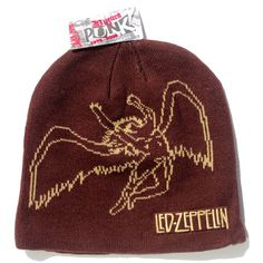 Official Led Zeppelin Beanie Hat in Brown featuring the Swansong design and Logo on the front Officially Licensed Merchandise See all Led Zeppelin