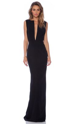 SOLACE London Linder maxi Dress em Preto | REVOLVE