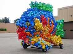 recycled fish parade float--definitely thinking outside the box.
