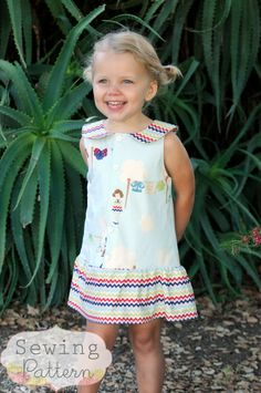 INSTANT DOWNLOAD- Nancy Dress (Size 12/18 months to Size 8) PDF Sewing Pattern and Tutorial