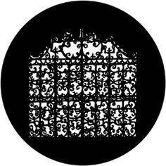 Filigree Gate (78035) - I imagine this flipped upside down and projected onto the 2 wood walls....