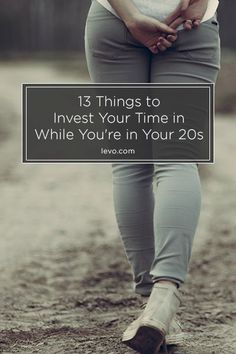 Your twenties will fly by faster than you realize... Make sure to take…