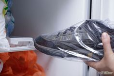 One of the quickest ways to get rid of that stink is to stick your shoes in a plastic bag, and then stick them in the freezer overnight.  Odor-causing bacteria will not be able to survive the cold temperatures.  When you take the shoes back out, make sure you allow the moisture to dry as they thaw! | #TheShoeMart #Fresh