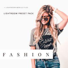 Fashion Lightroom Filter Presets