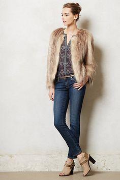 Statement jacket with faux fur - Rochelle Jacket #anthropologie