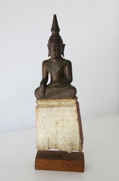 Catawiki online auction house: Wooden Lanna Buddha - Thailand - end 19th c.