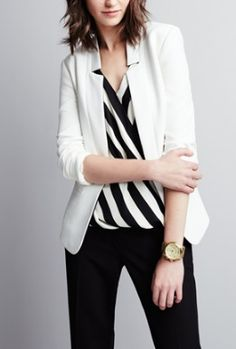 Striped. women fashion outfit clothing stylish apparel @roressclothes closet ideas