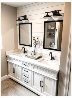 Bathroom Renos, Bathroom Renovations, Bathroom Interior, Remodel Bathroom, Budget Bathroom, Decorating Bathrooms, Ikea Bathroom, Shiplap Bathroom, Bathroom Plants