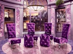 Purple Dining Room Chairs From Statement Interior Home Decor