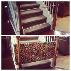 DIY baby/puppy gate --- wonder if this will work and be good and sturdy!?!?