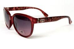 ($9.95) Dg Eyewear Vintage Cat Eye Sunglasses Womens Red D845 From DG Eyewear