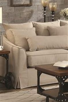 Coaster 500180 Beige Fabric Sectional Sofa - Steal-A-Sofa Furniture Outlet Los Angeles CA