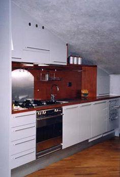 Ristrutturazione e arredo mansarda - Cucina - Montello (BG) 1997