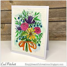 Simply Beautiful: Watercolored Florals