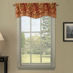 Waterford Linens Mackenna Double Scalloped Valance