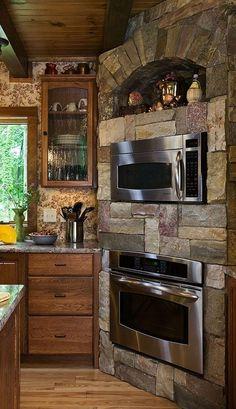 Cabin custom designed oven....