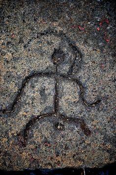 Hawaiian Petroglyphs    1700 year old from Hawaii Island