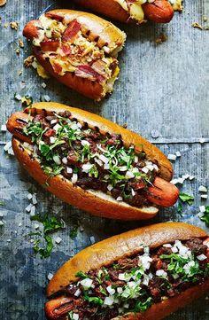 Chorizo chilli dogs – the ultimate hot dog recipe for any barbecue. Find … Chorizo chilli dogs – the ultimate hot dog recipe for any barbecue. Find the recipe on the Waitrose website. Dog Recipes, Cooking Recipes, Waitrose Food, Gourmet Hot Dogs, Burger Bar, Burgers, Pub Food, Le Diner, Food Cravings