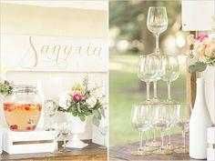 Peach Sangria Bar for the wedding