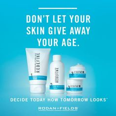 Rodan + Fields is the #1 premium anti-aging brand in the US.  The Redefine Regimen is for the appearance of lines, pores and loss of firmness.  60 day money back guarantee.  Preferred Customers receive free shipping, discounts and nice perks.