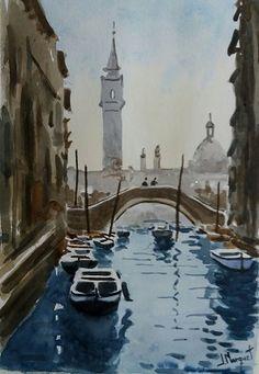 Acuarela 25x35 cm. Venecia