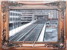 Blackfriars, London - Acrylic on canvas x Album, London, Canvas, Gallery, Tela, Roof Rack, Canvases, London England, Card Book