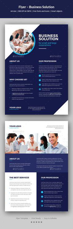 Business Solution Flyer Template PSD