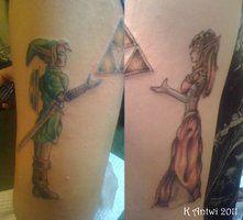 zelda and link tattoo