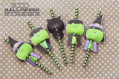 Kid Halloween Straws from Kiki and Company