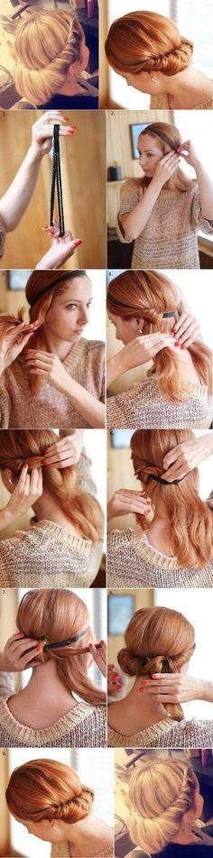 Toll mit einem trachtigen Haarband